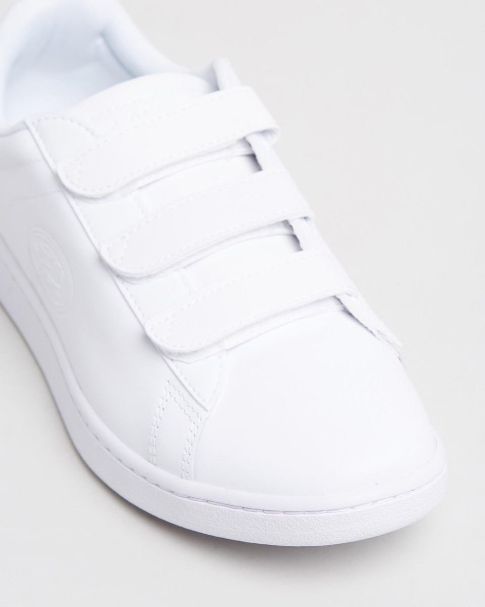 good quality best place super quality Zapatilla Lacoste Mujer Blanca Abrojo Carnaby Evo Strap