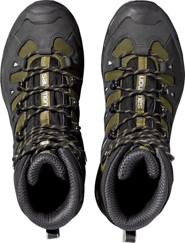 zapatilla masculina salomon- quest 4d 2 gtx m verde/negro