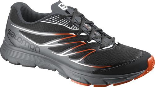zapatilla masculina salomon- sense link m negro/gris