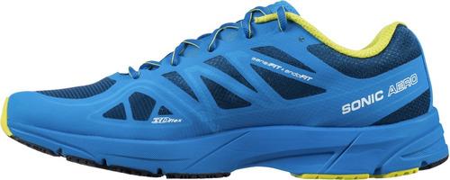zapatilla masculina salomon- sonic aero m azul-trail running