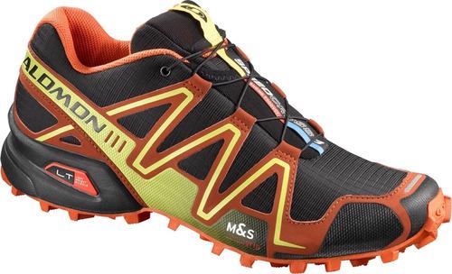 zapatilla masculina salomon-speedcross 3 m negro/naranja
