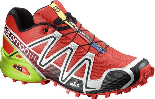 zapatilla masculina salomon- speedcross 3 m rojo