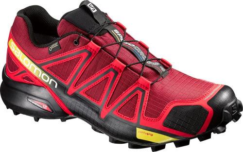 zapatilla masculina salomon-speedcross 4 gtx m rojo