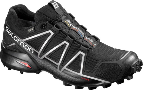 zapatilla masculina salomon- speedcross 4 gtx negro