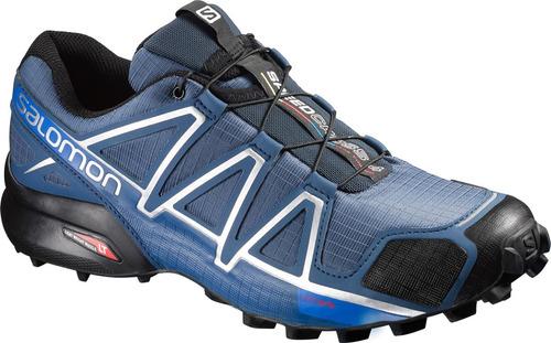 zapatilla masculina salomon -  speedcross 4 m azul/negro