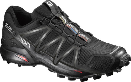 zapatilla masculina salomon- speedcross 4 m negro