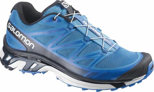 zapatilla masculina salomon- wings pro m azul-trail running