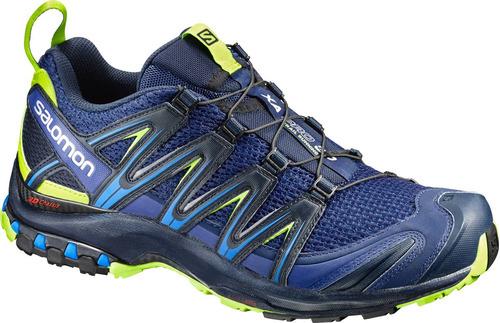 zapatilla masculina salomon- xa pro 3d m azul-trail running