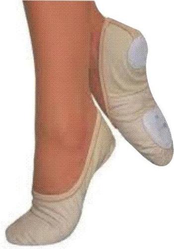 zapatilla media punta elastizada glitter suella dividida + pollerin