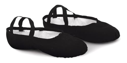 zapatilla media punta  en lona. sansha modelo silhouette