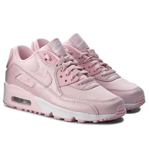 zapatilla mujer nike air max 90 gs rosadas / sneakerbox