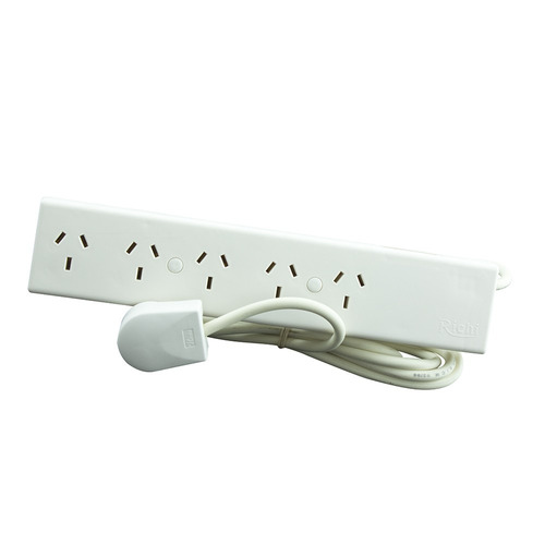 zapatilla multitoma richi 5 módulos cable 1,5 metros 10a