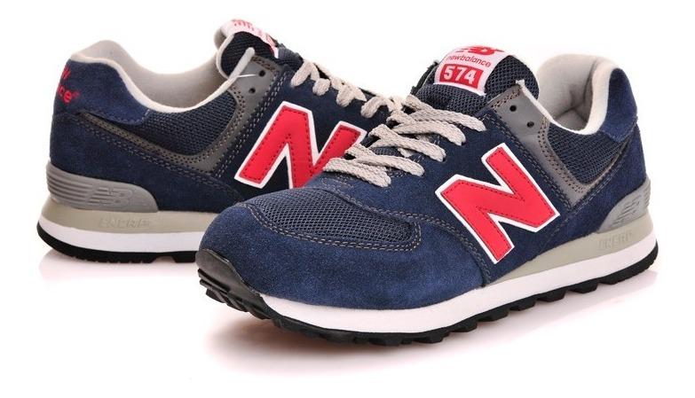 zapatillas new balance hombres azules y rojas