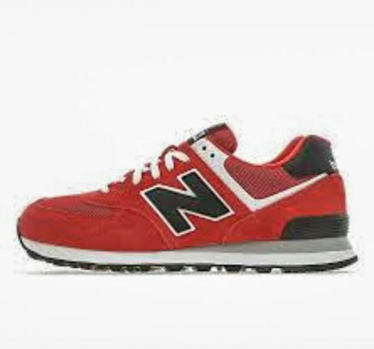 new balance 574 roja y negra
