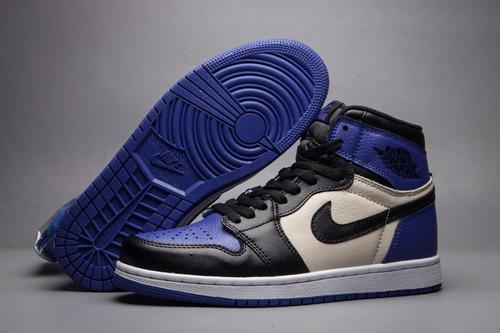 zapatilla nike air jordan 1 / azul y blanco