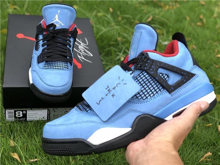 online store 70ec2 d806a Zapatilla Nike Air Jordan 4 Retro X Travis Scott Cactus Jack