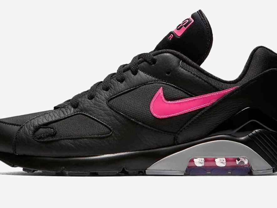 Zapatilla Nike Air Max 180 Black/pink Us 13 - 31 Cm - $ 4.699,00