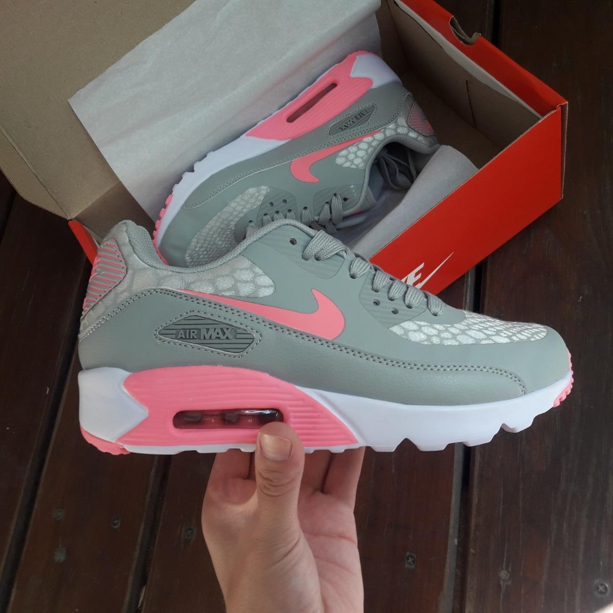 buy online 1a7d3 74385 zapatilla nike air max 90 ultra 2.0 gris-rosa. Cargando zoom.
