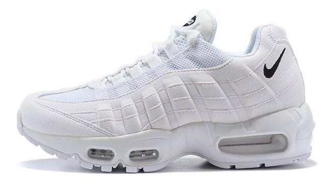 super popular 5a37a bc2a0 Zapatilla Nike Air Max 95 Triple White Size:36-40