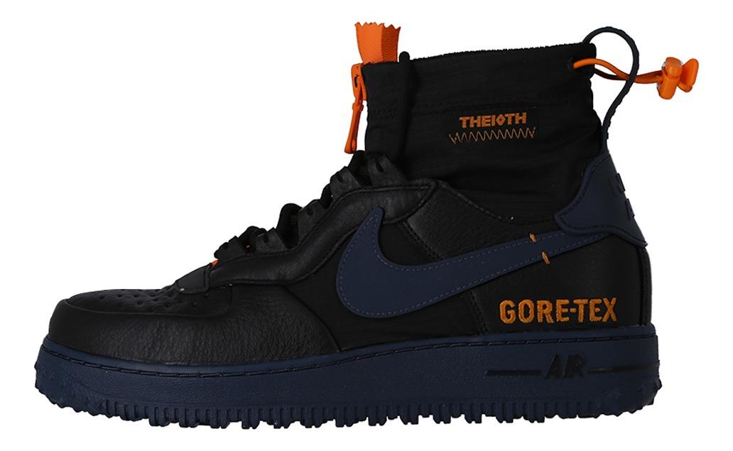 Zapatilla Nike Hombre Air Force 1 Wtr Gore-tex Black