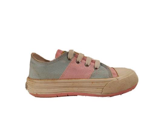zapatilla niña lona cordon oferta ultimo par 27 shoestore