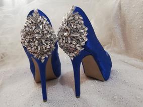 403e6aad8fa Zapatos De Novia Azul Rey - Ropa, Bolsas y Calzado en Mercado Libre México