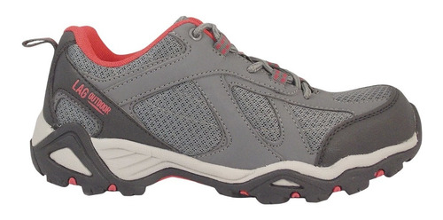 zapatilla outdoor mujer gris lag 3fz0217