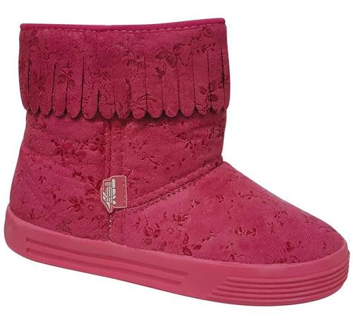 zapatilla pantubota niñas toy boot 02 fucsia talle 27 al 33