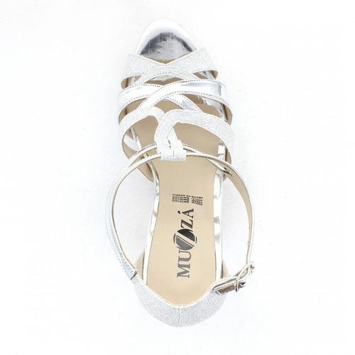 zapatilla para mujer muzza 10481-033710 color plata