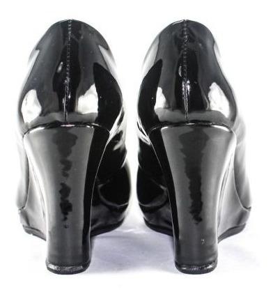 zapatilla piel castle shine dama leslie negro charol
