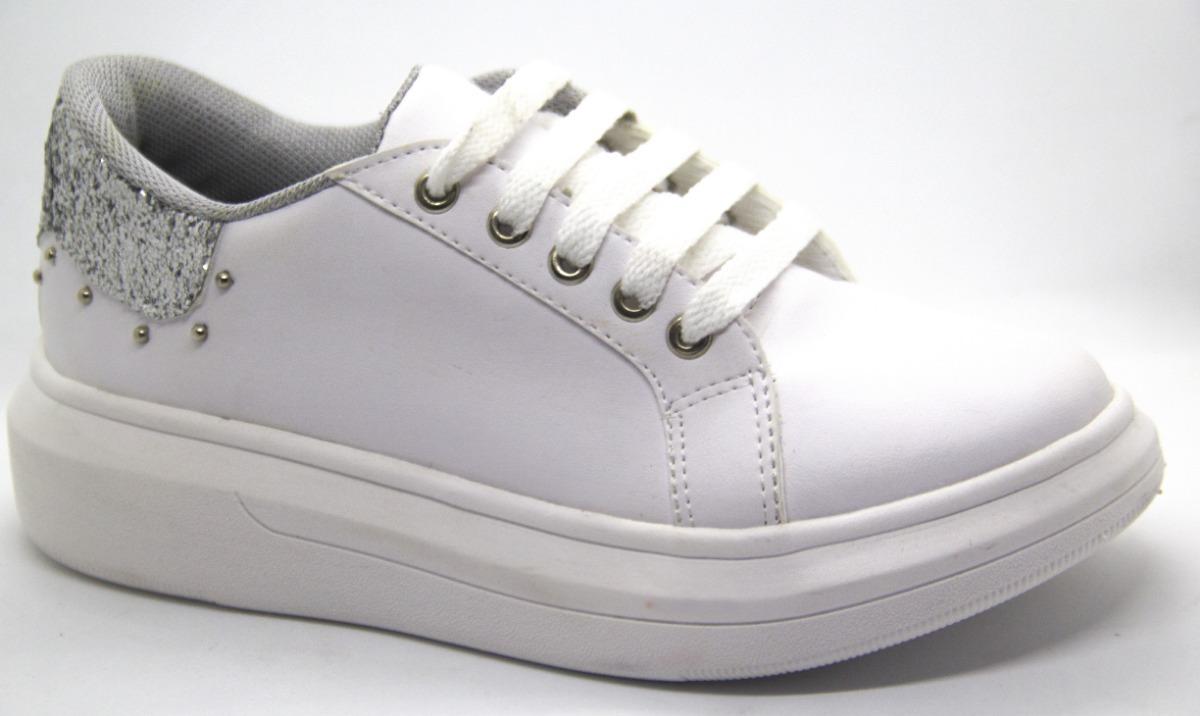 fb5c3dade1e zapatilla plataforma sneakers blanca alta tachas moda 2018. Cargando zoom.