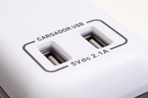zapatilla-prolongador electrica con usb para carga -trv-