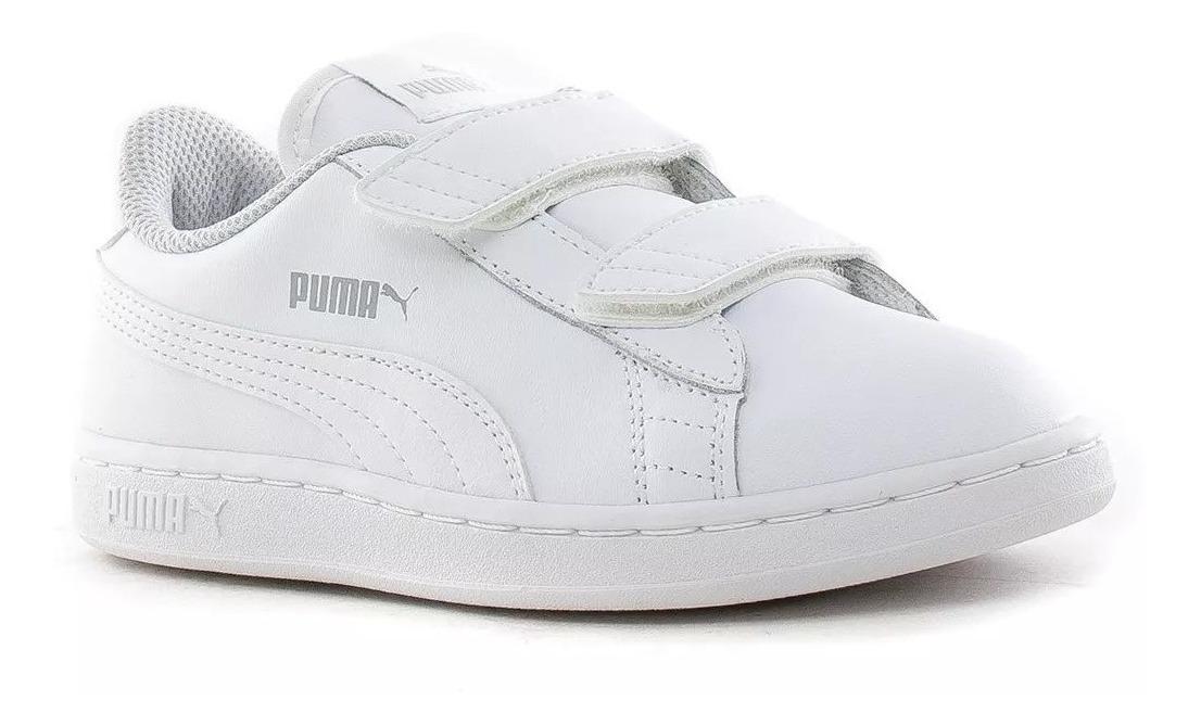 puma smash blanca