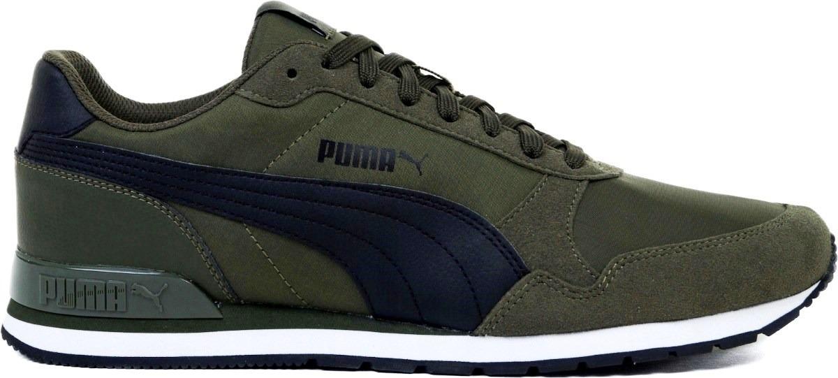 zapatillas puma hombre verde