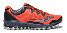 Saucony PEREGRINE Azul Rojo Zapatos Running trail