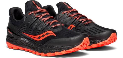 zapatilla saucony trail xodus iso3 hombre negro/rojo
