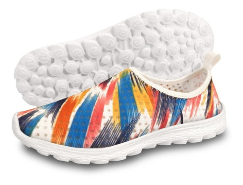 zapatilla slip on niño multicolor azul