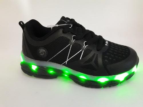 zapatilla sport luces led / niño y niña / usb recargable