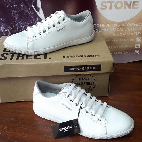 zapatilla stone clásicas blancas