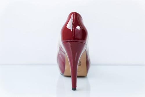 zapatilla tacón alto ch. rojo - envío y cambio gratis - moro