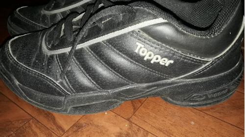 zapatilla toper cuero talle 38 usadas