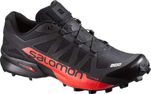 zapatilla unisex salomon -  s-lab speedcross negro/rojo