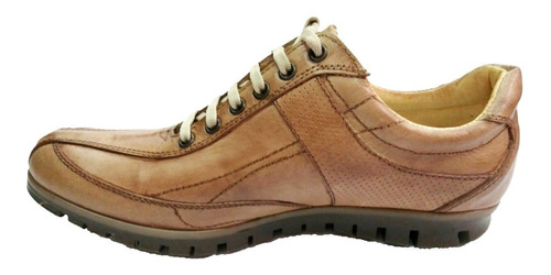 zapatilla urbana 100% cuero foot notes 1281 marron hot sale