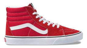 zapatillas mujer rojas vans
