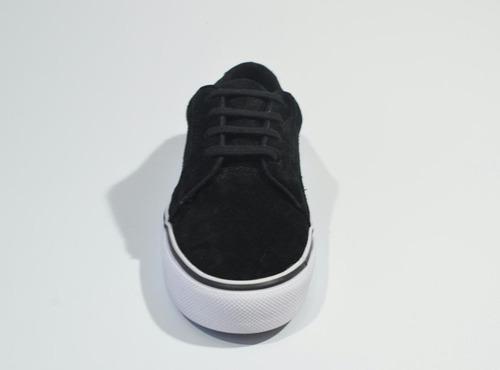 zapatilla xpoint chicago - azul-negro-bordó - cuero descarne
