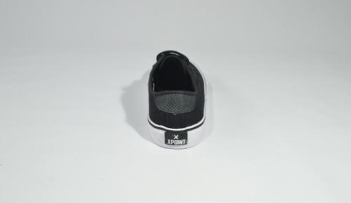 zapatilla xpoint detroit black - negro - lona - unisex
