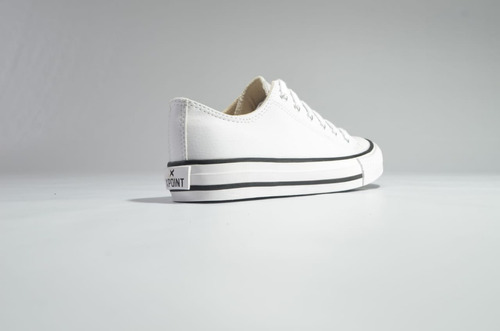 zapatilla xpoint texas - blanco-negro - cuero pu - unisex
