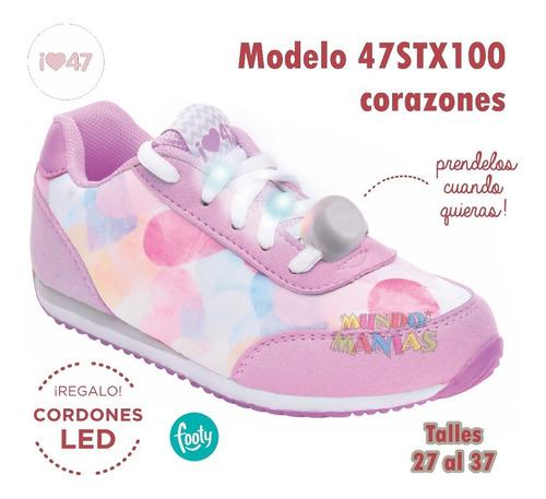 zapatillas 47st street cordon luz led footy #100 mundomanias