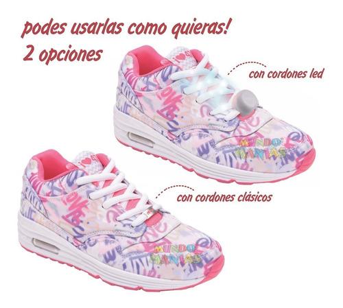 zapatillas 47st street cordon luz led love footy mundomanias