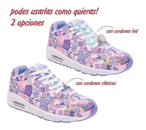 zapatillas 47st street cordon luz led lucky footy mundomania